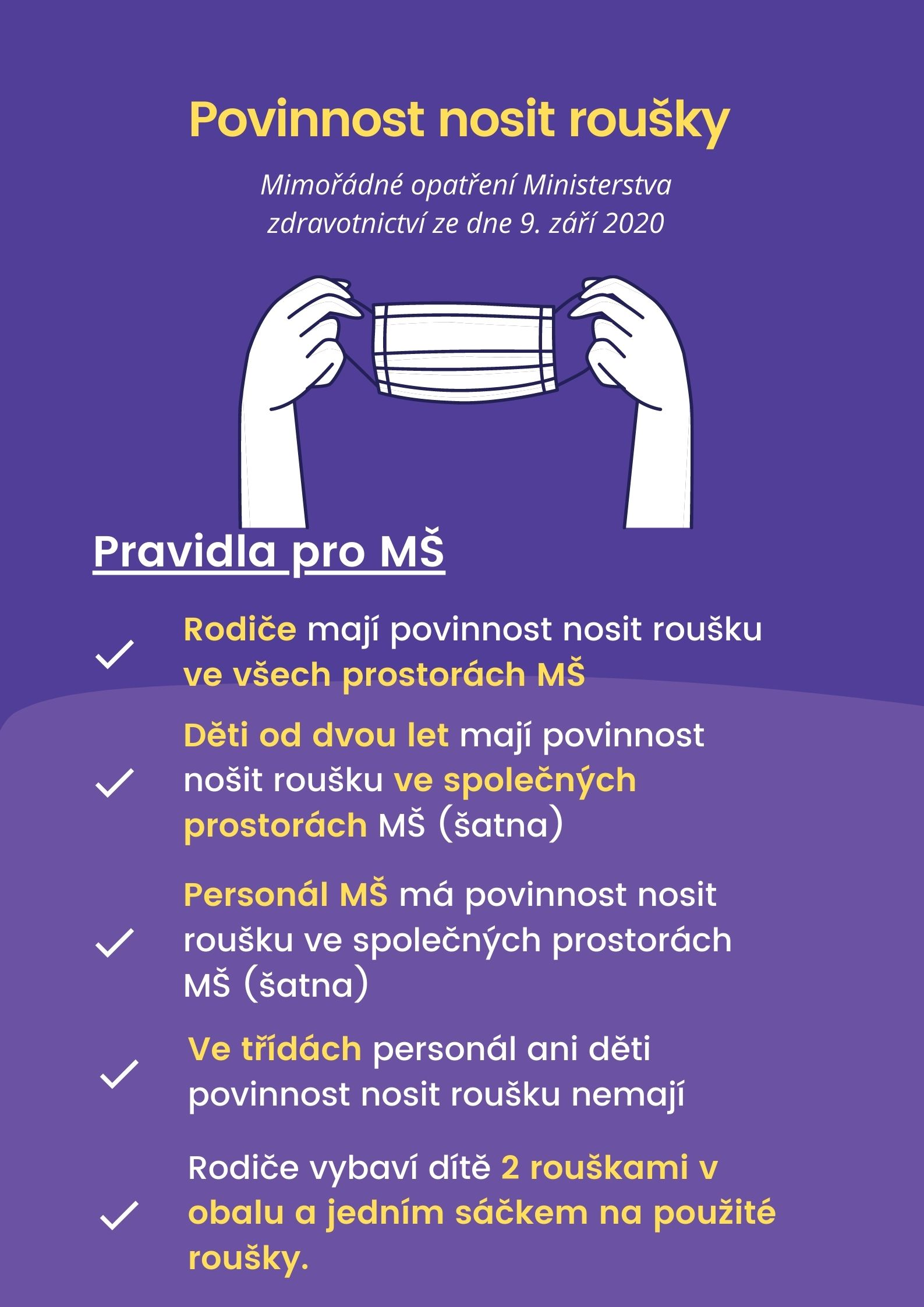 Purple and White Proper Mask Use COVID Flyer